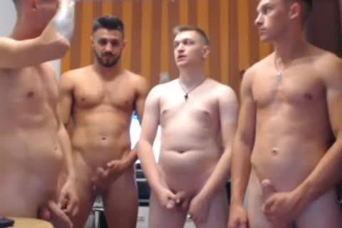 4 naughty Romanian guys, Hard dicks & naughty buttholes
