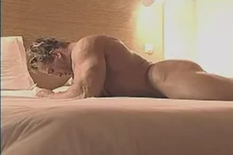 naughty Muscle Hunk In Birthday Suit And Touching Himself