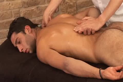 charming Hunky Adrian Getting admirable Sensual Massage On His Searing Body And Hard Tool