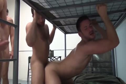 concupiscent Soldiers pounding bare
