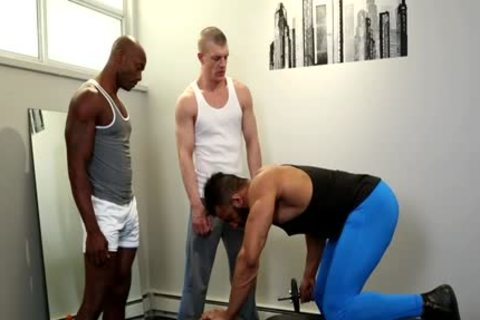 large dick gay three-some With cream flow