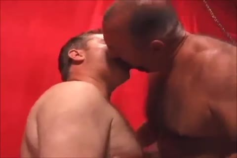 Two lovely daddies plowing