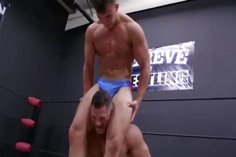Daddy And Son Wrestling! Daddy Is So delicious In Minimal Speddo, almost A belt
